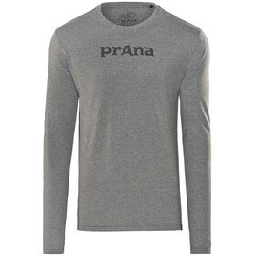 Prana Prana Logo - T-shirt manches longues Homme - gris